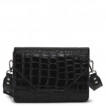 Adax Rosemary Shoulder Bag - Black Croco Print