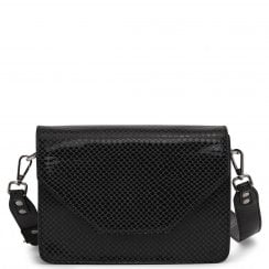 Adax Rosemary Shoulder Bag - Black Snake Print