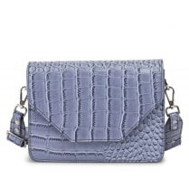 Adax Rosemary Shoulder Bag - Blue Croco Print