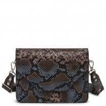 Adax Rosemary Shoulder Bag - Blue Snake Print