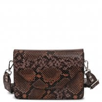 Adax Rosemary Shoulder Bag - Orange Snake Print