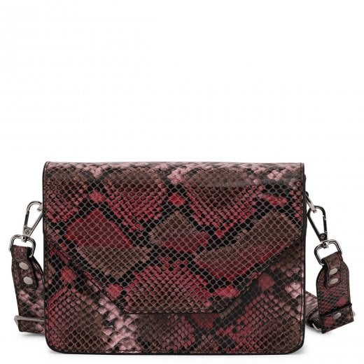 Adax Rosemary Shoulder Bag - Pink Snake Print