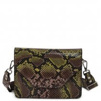 Adax Rosemary Shoulder Bag - Yellow Snake Print