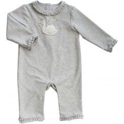 Albetta Swan Silver Babygrow 3-6 Months