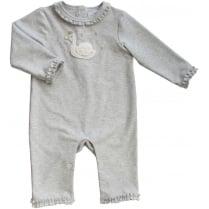 Albetta Swan Silver Babygrow 6-12 Months
