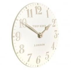 "Art Marketing 12"" Arabic White Linen Wall Clock"
