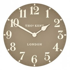 "Art Marketing 20"" Arabic Taupe Wall Clock"