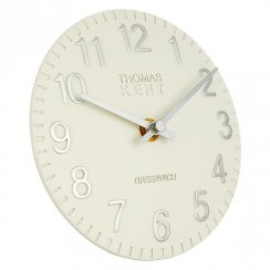 "Art Marketing 6"" Cotswold Snowberry White Mantel Clock"