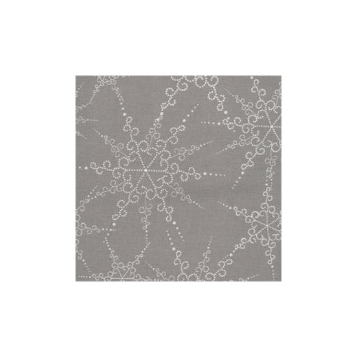 Au maison coated cotton w antislip snowflakes grey for Au maison oilcloth