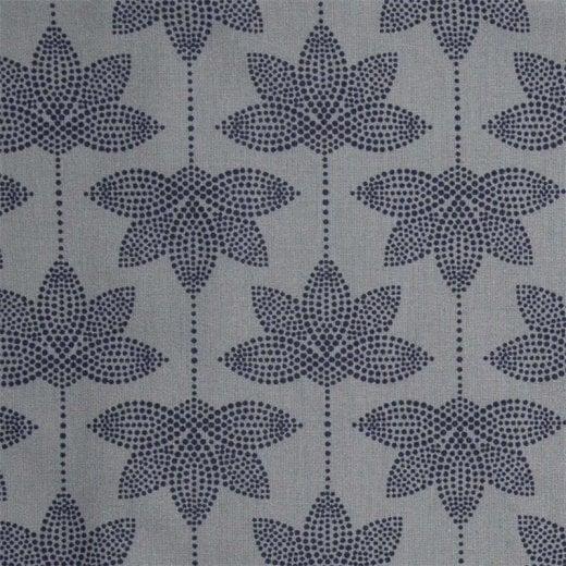 Au Maison Lotus Oil Cloth - Dusty Blue/Midnight Blue