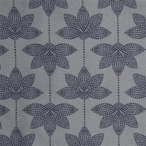 Au Maison Lotus Oil Cloth - Dusty Blue/Midnight Blue