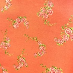 Au Maison Oil Cloth - Coral/Flower