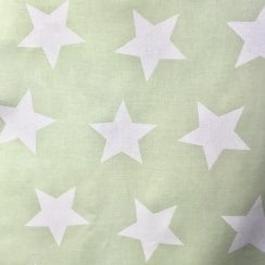 Au Maison Oil Cloth - Light Green/Large White Stars