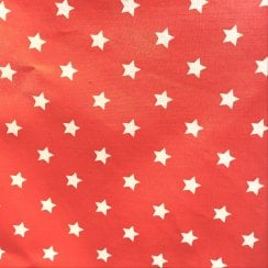 Au Maison Oil Cloth - Red/White Stars