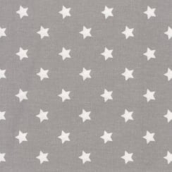 Au Maison Oilcloth Big Star Grey - Price per metre