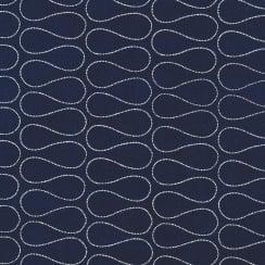Au Maison Oilcloth Omnia Twlight Blue - Price per metre