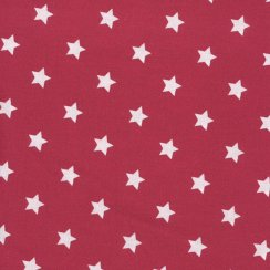 Au Maison Oilcloth Star Red - Price per metre
