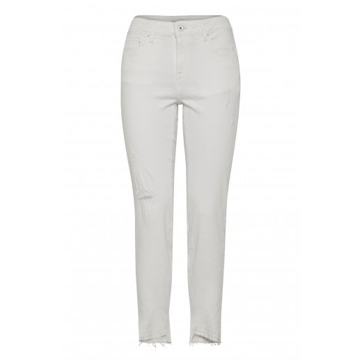 B.Young Cropped Jeans - White
