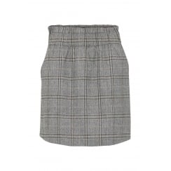 B.Young Grey Check Skirt