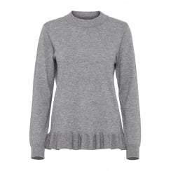 B.Young Grey Knit with Puff Detail