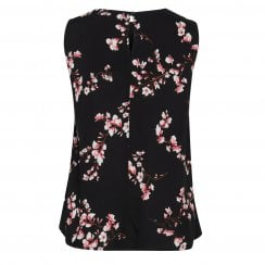 B.Young Irianna Top - Black Floral