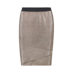 B.Young Multi-Layer Effect Short Skirt - Antique Gold