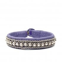 Be Christensen Hella Leather Cuff Bracelet - Purple