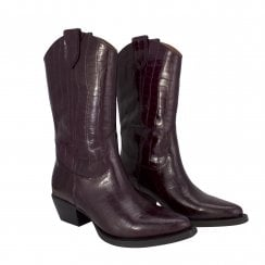 Billi Bi 3/4 Length Boot - Wine Croco