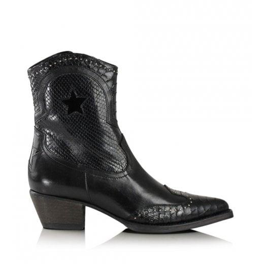Billi Bi Black Western Boots