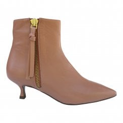 Billi Bi Dark Rose Nappa Boot with Gold Zip