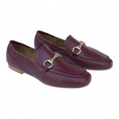 Billi Bi Leather Loafer - Burgundy