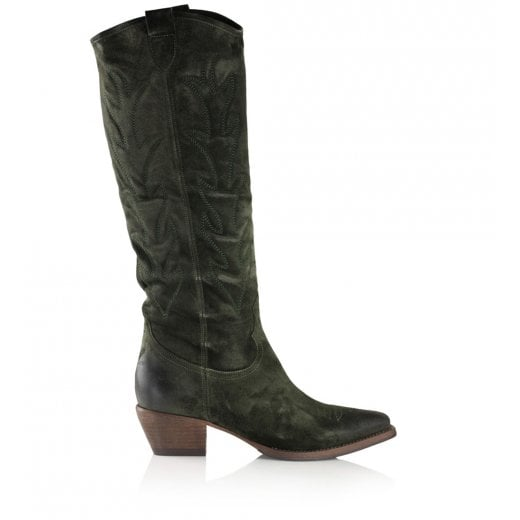 Billi Bi Long Western Boots - Army