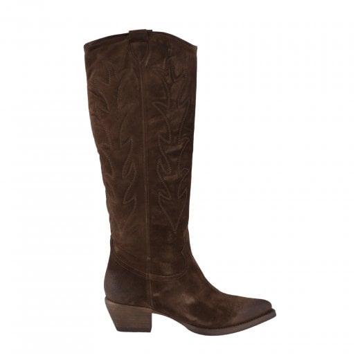 Billi Bi Long Western Boots - Brown