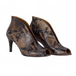 Billi Bi Open Toe Shoe Boot - Snake Skin