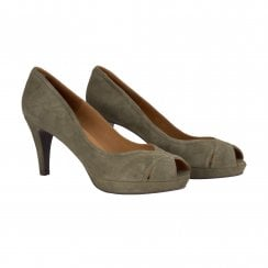 Billi Bi Peep Toe Shoe - Army Green