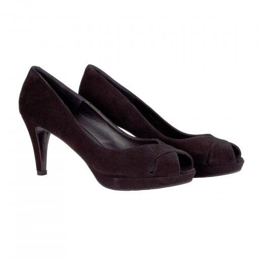 Billi Bi Peep Toe Shoe -  Black