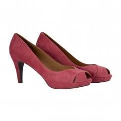 Billi Bi Peep Toe Shoe -  Dark Pink