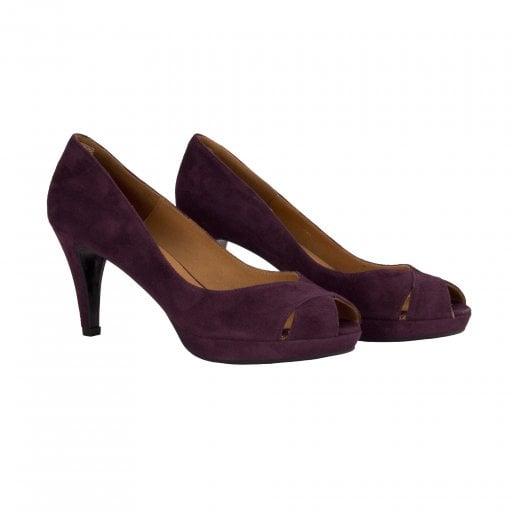 Billi Bi Peep Toe Shoe -  Prune