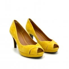 Billi Bi Peep Toe Shoe - Yellow