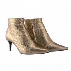 Billi Bi Stiletto Heel Boot - Gold