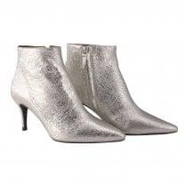Billi Bi Stiletto Heel Boot - Silver