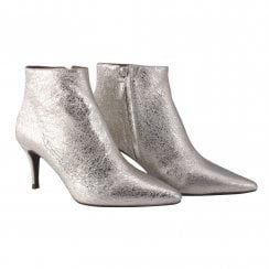 Billi Bi Stiletto Heel Boot - Silver