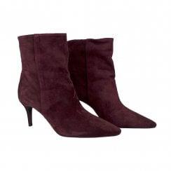 Billi Bi Suede Ankle Boots - Burgundy