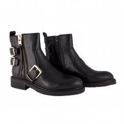 Billi Bi Texas Boot with Buckles - Black