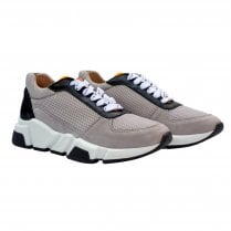 Billi Bi Trainer - Taupe/White/Orange