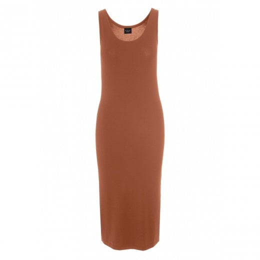 Bitte Kai Rand Atlas Jersey Tank Dress - Mocha Bisque
