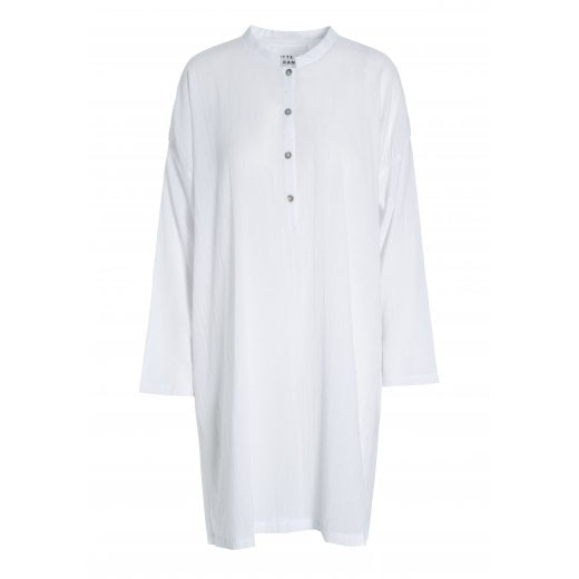 Bitte Kai Rand Crinkle Cotton Long Shirt - White