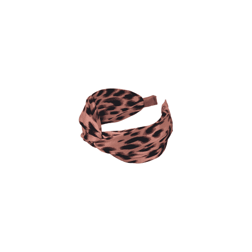 Black Colour Headband - Leo Print Rose