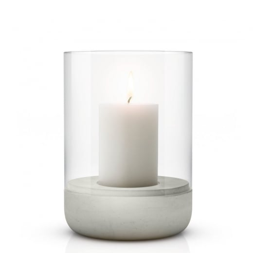 Blomus Large Concrete and Glass Tealight Holder