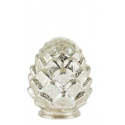 Bovictus Glass Pinecone With Timer - Metallic